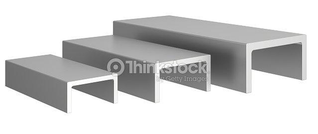Perfiles de acero inoxidable sobre un fondo blanco foto de - Perfiles acero inoxidable ...