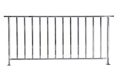 Stainless steel railing isolated on white, with clipping path.