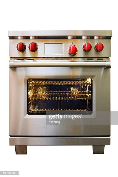 Stainless Steel Stove, Oven, Range Kitchen Appliance on White Background