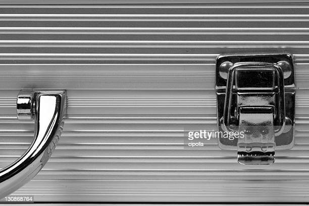 Stainless steel suitcase, detail