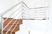 stair wood interior in the home