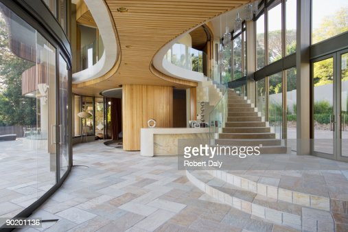 Staircase and entryway of modern home : Stock Photo