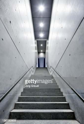 Staircase at night : Stock Photo