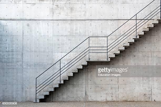Staircase Benesse Museum House Naoshima Japan