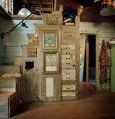staircase in artist's studio