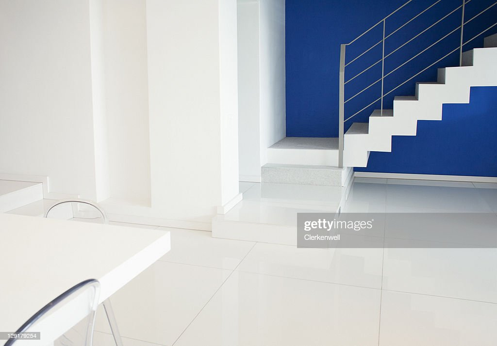 Staircase in living room : Stock Photo