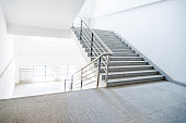 Staircase in school building