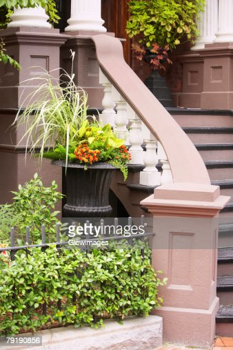 Staircase of a building, Savannah, Georgia, USA : Foto de stock