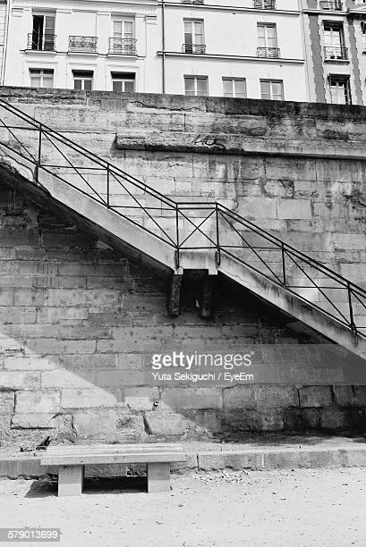 Staircase On Wall By Street