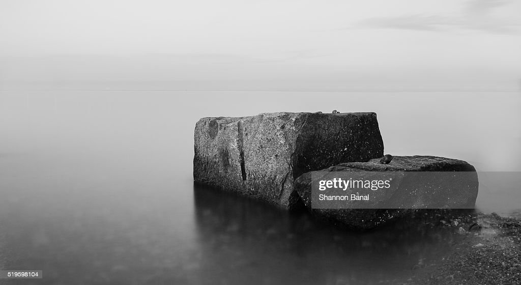 Staircase Rock in the Middle of the Water