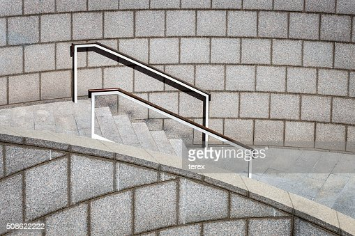 staircase with a handrail : Stock Photo