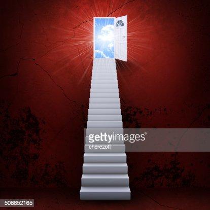 Stairs and magic doors : Stock Photo