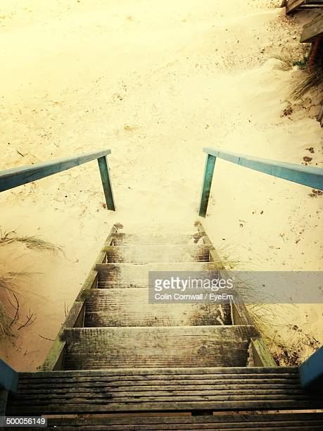 Stairs and shore