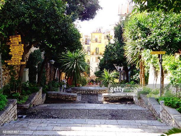 Stairs at Taormina, Sicily, Italy