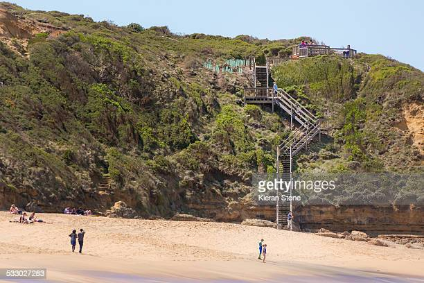 Stairs leading down to beach