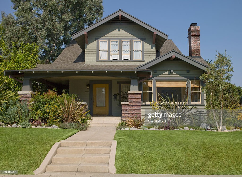 Stairs leading to craftsman house : Foto stock