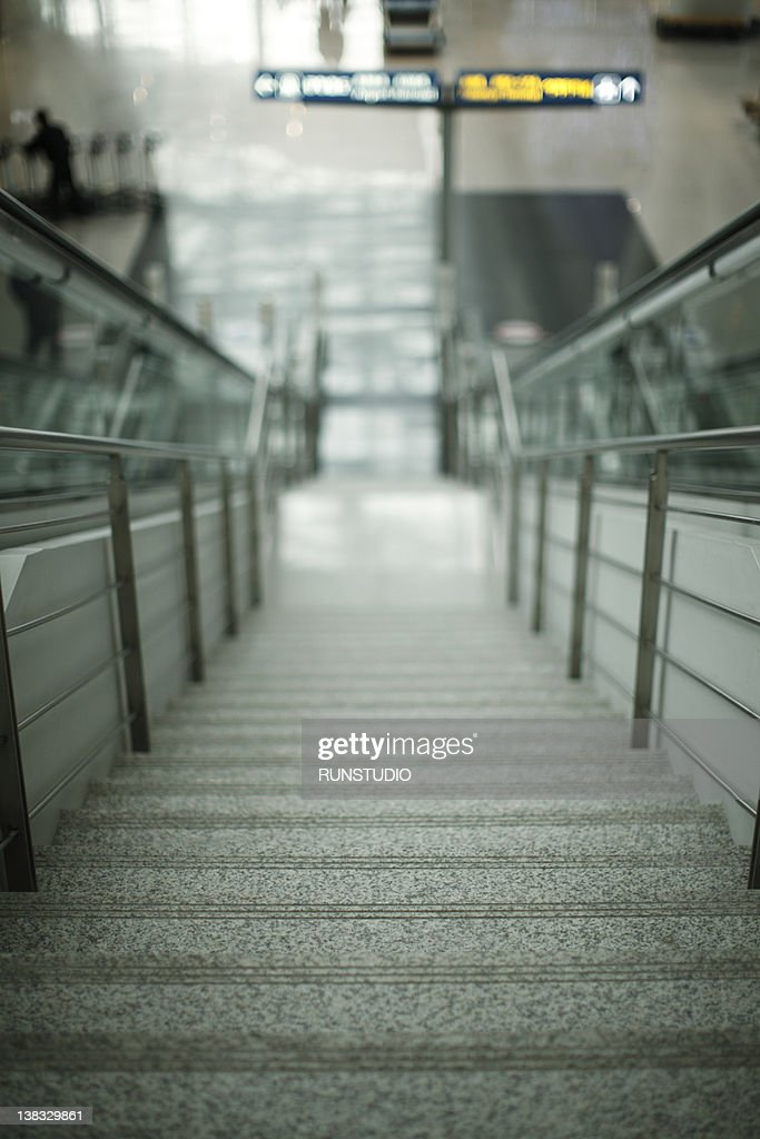 Stairs public building : Stock Photo