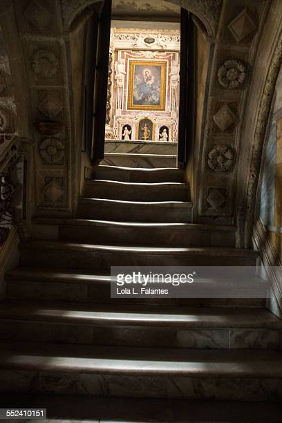 Stairs to the crypt