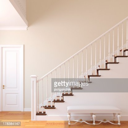 Stairway in the modern house. : Stock Photo