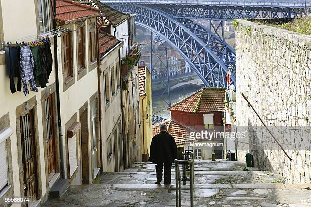 Stairway of Rua de Arnaldo Gama and Luiz I bridge