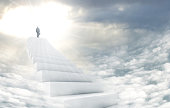 Shot of a man on a stairway leading up to heavenhttp://195.154.178.81/DATA/i_collage/pi/shoots/783568.jpg