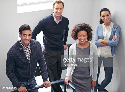 Stairwell meeting : Stock Photo