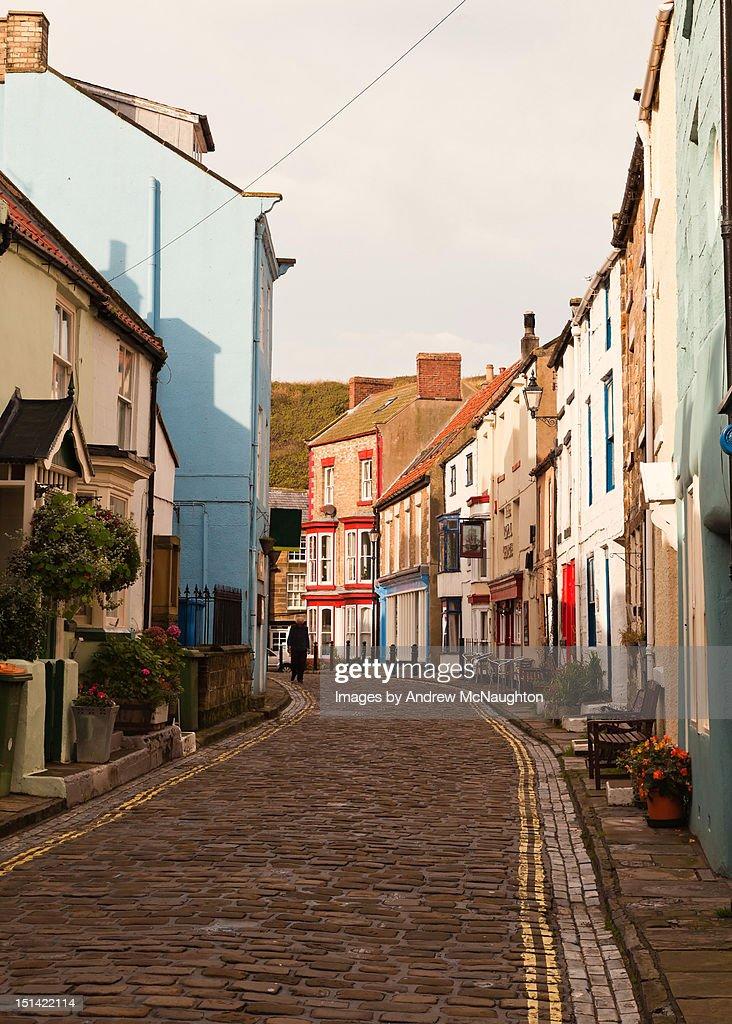 Staithes street : Stock Photo