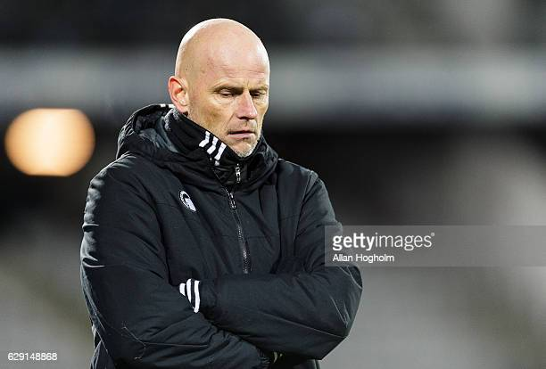 Stale Solbakken head coach of FC Copenhagen during the Danish Alka Superliga match between AGF Aarhus and FC Copenhagen at Ceres Park on December 11...