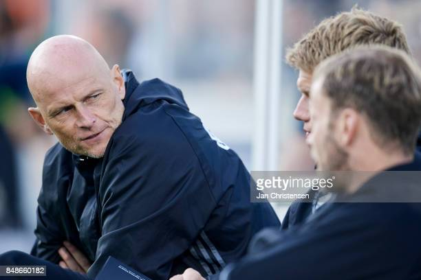 Stale Solbakken head coach of FC Copenhagen during the Danish Alka Superliga match between FC Helsingor and FC Copenhagen at Helsingor Stadion on...
