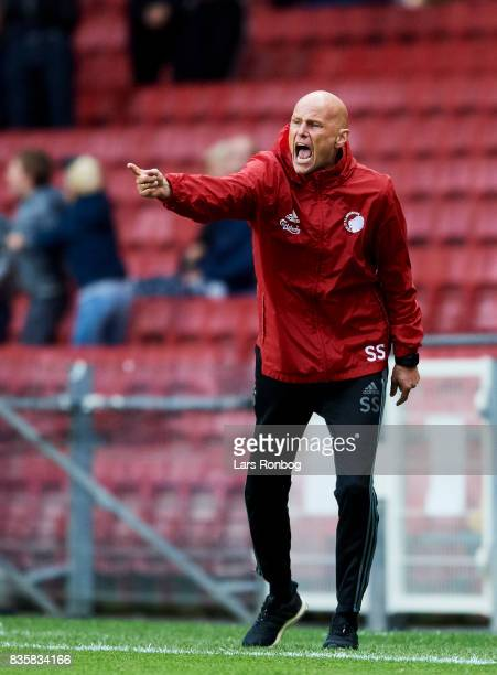 Stale Solbakken head coach of FC Copenhagen gestures during the Danish Alka Superliga match between FC Copenhagen and Sonderjyske at Telia Parken...