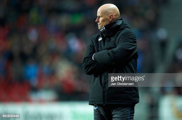 Stale Solbakken head coach of FC Copenhagen looks on during the Danish Alka Superliga match between FC Copenhagen and Esbjerg fB at Telia Parken...