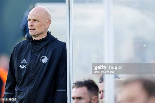 Stale Solbakken head coach of FC Copenhagen looks on during the Danish Alka Superliga match between FC Helsingor and FC Copenhagen at Helsingor...