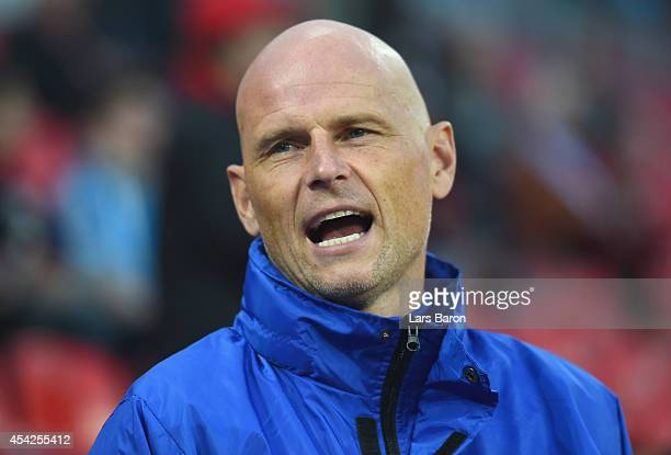Stale Solbakken of Copenhagen is seen prior to the UEFA Champions League Qualifying PlayOffs Round second leg match between Bayer Leverkusen and FC...