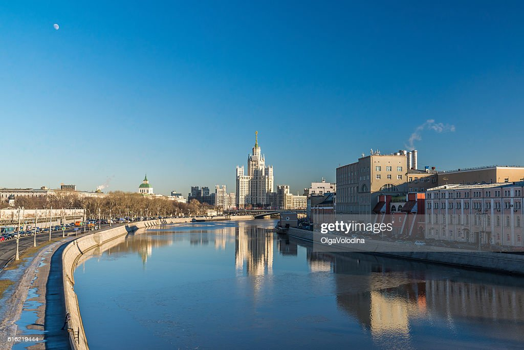 Stalin-era building on Kotelnicheskaya Embankment Moscow, Russia : Stockfoto