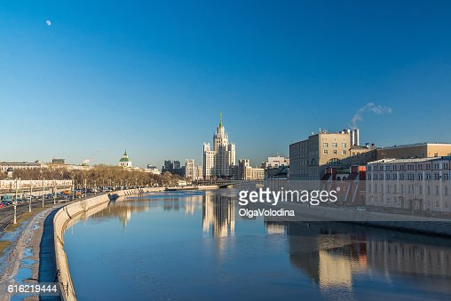 Stalin-era building on Kotelnicheskaya Embankment Moscow, Russia : Stock-Foto