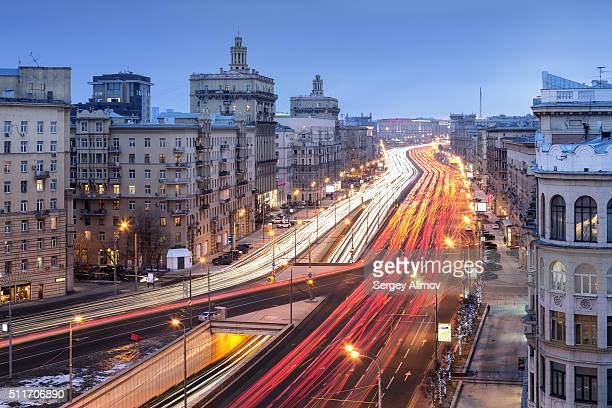 Stalinist architecture and traffic in Moscow