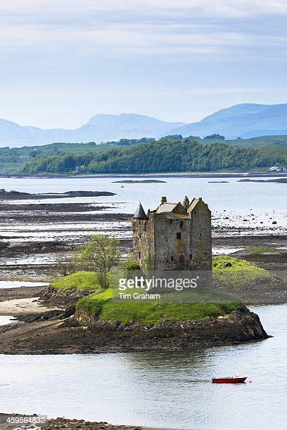 Stalker Castle on Loch Linnhe 14th Century highland fortress of MacDougall clan at Appin Argyll in the Highlands of Scotland