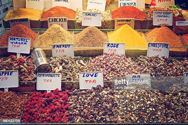 Stall in the spice bazaar, Istanbul, Turkey