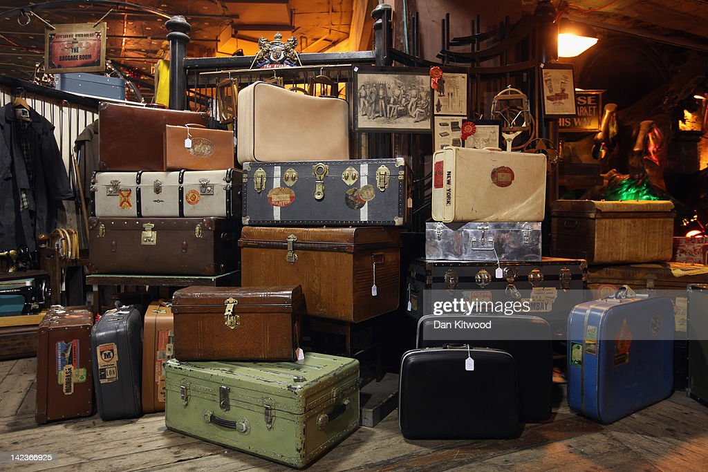 A stall selling vintage luggage in Camden Market on March 31, 2012 in London, England. Camden in North London has been one of the city's cultural centres since the 1960's, and is home to the famous Camden Market. The borough is rich in musical heritage with a variety of musical and comedy venues, theatres and art galleries.