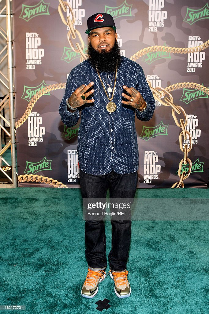 <a gi-track='captionPersonalityLinkClicked' href=/galleries/search?phrase=Stalley&family=editorial&specificpeople=5838307 ng-click='$event.stopPropagation()'>Stalley</a> attends the BET Hip Hop Awards 2013 at Boisfeuillet Jones Atlanta Civic Center on September 28, 2013 in Atlanta, Georgia.