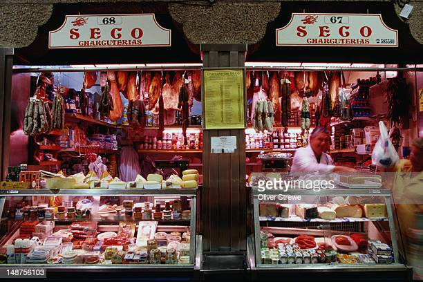 Stalls in a market - Santiago de Compostela, Galicia