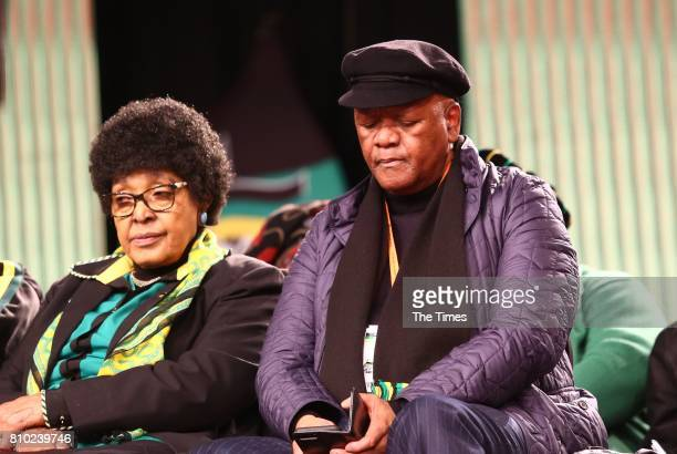 ANC Stalwart Winnie MadikizelaMandela and Jeff Radebe during the African National Congress 5th national policy conference at the Nasrec Expo Centre...