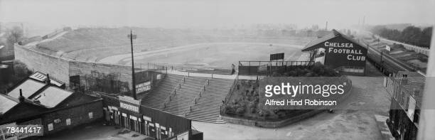 Stamford Bridge stadium home of Chelsea FC stands empty before the F A Cup Final between Aston Villa and Huddersfield 24th April 1920