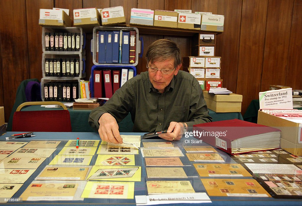 A stamp dealer catalogues his stock for sale at the Strand Stamp Show in the Royal National Hotel on January 7, 2008 in London, England. The monthly Strand Stamp Show held in London attracts philatelist dealers and collectors from around the country.