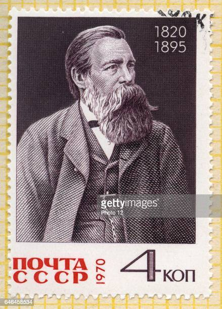 stamp printed by Russia shows Friedrich Engels circa 1970