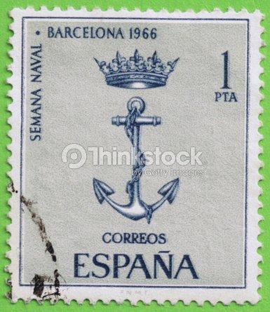Stamp Spain Sello De Espaa Stock Photo