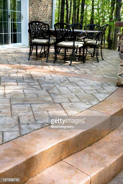 Stamped Concrete Patio and Terrace