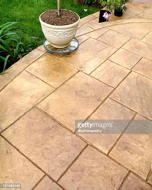 Stamped Concrete Sidewalk and Patio