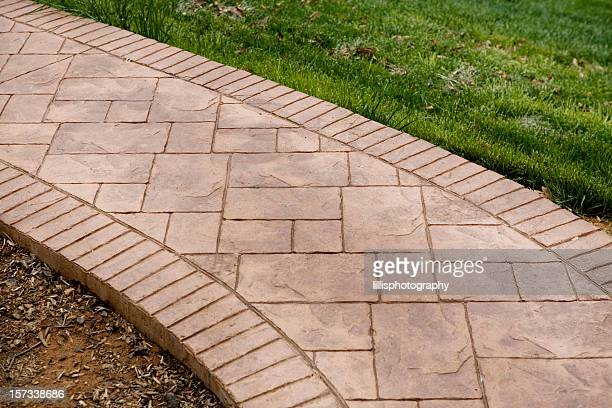 Stamped Concrete Sidewalk