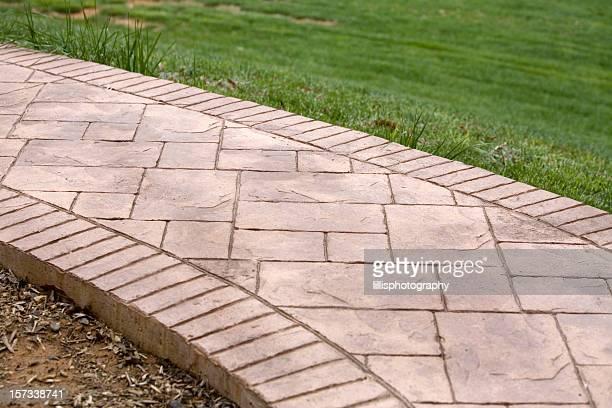 Estampado de cemento al aire libre